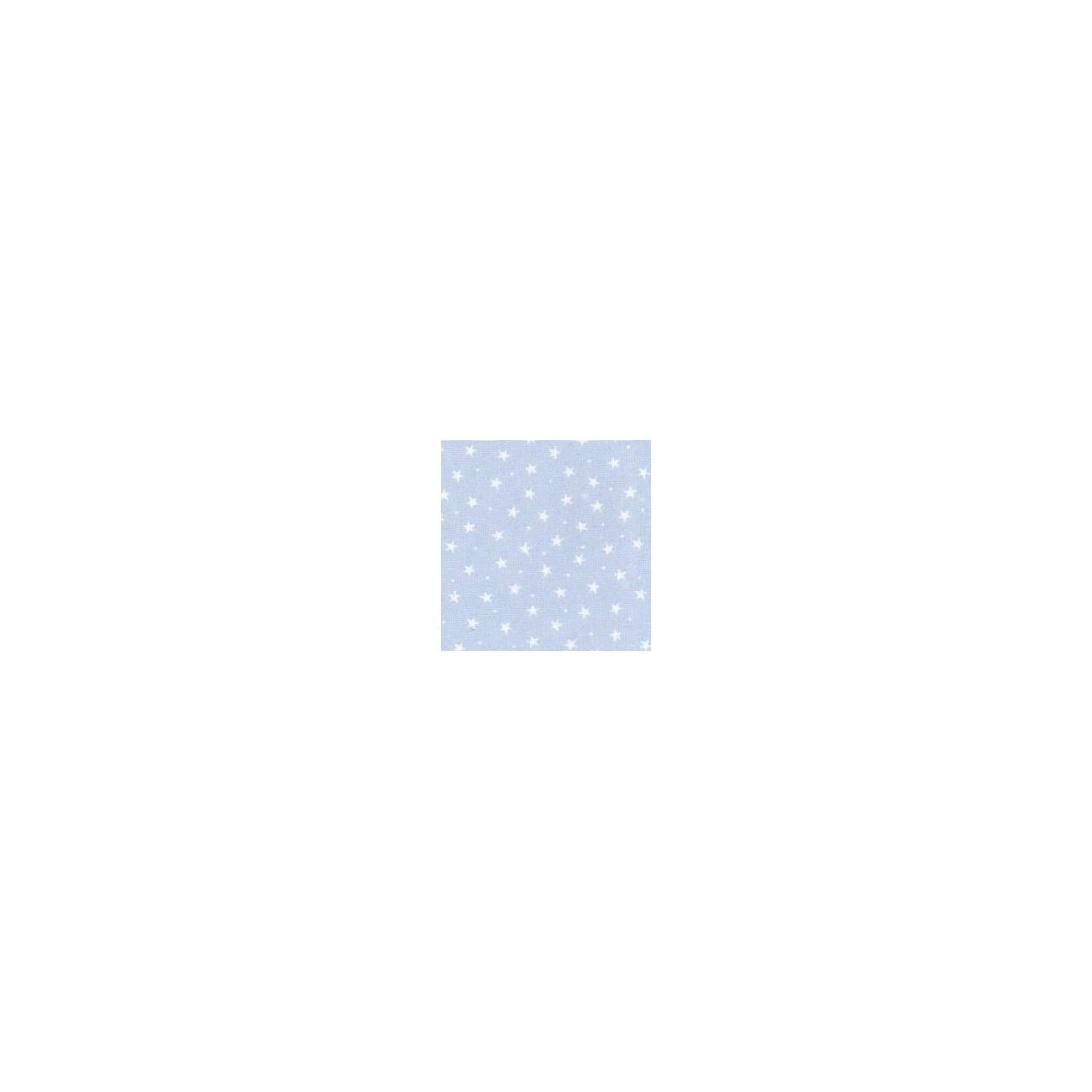 Tissu Etoiles Bleu Clair