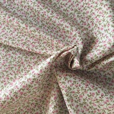 Tissu petite fleur rose