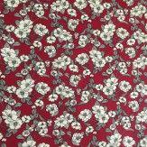 Tissu fleurie marguerite rouge