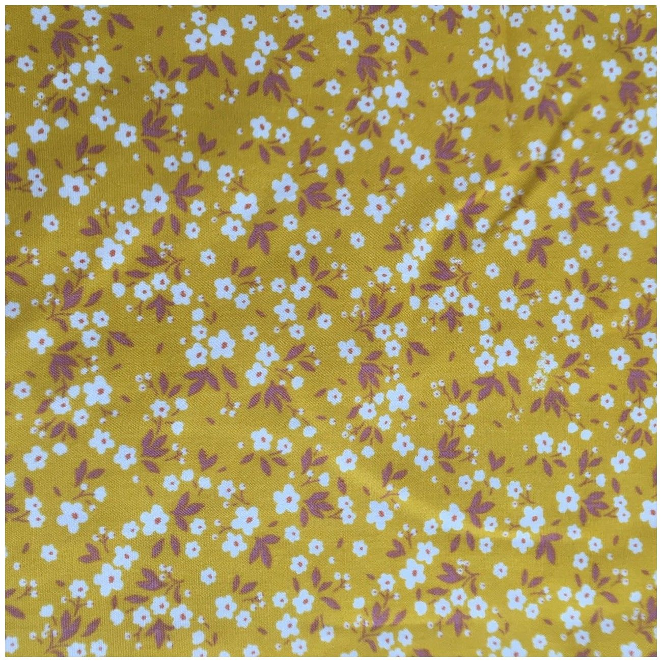 Tissu fleuri Mimi jaune