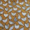 Tissu coton poule ochre