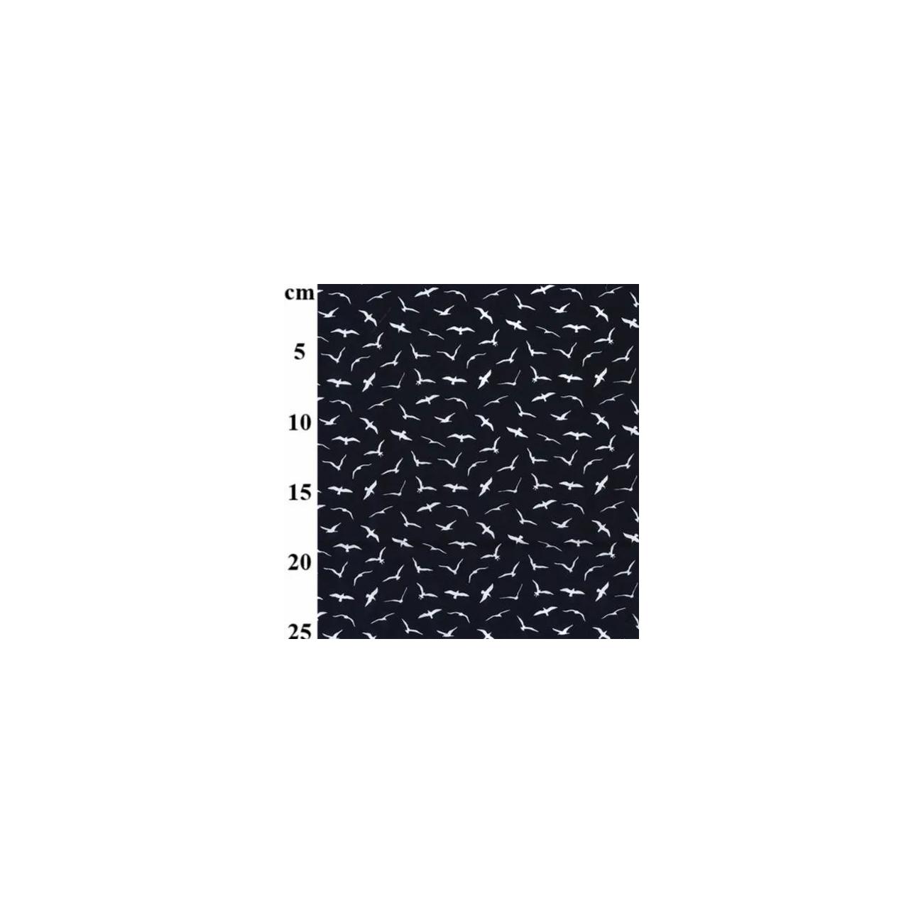 Tissu coton mouette