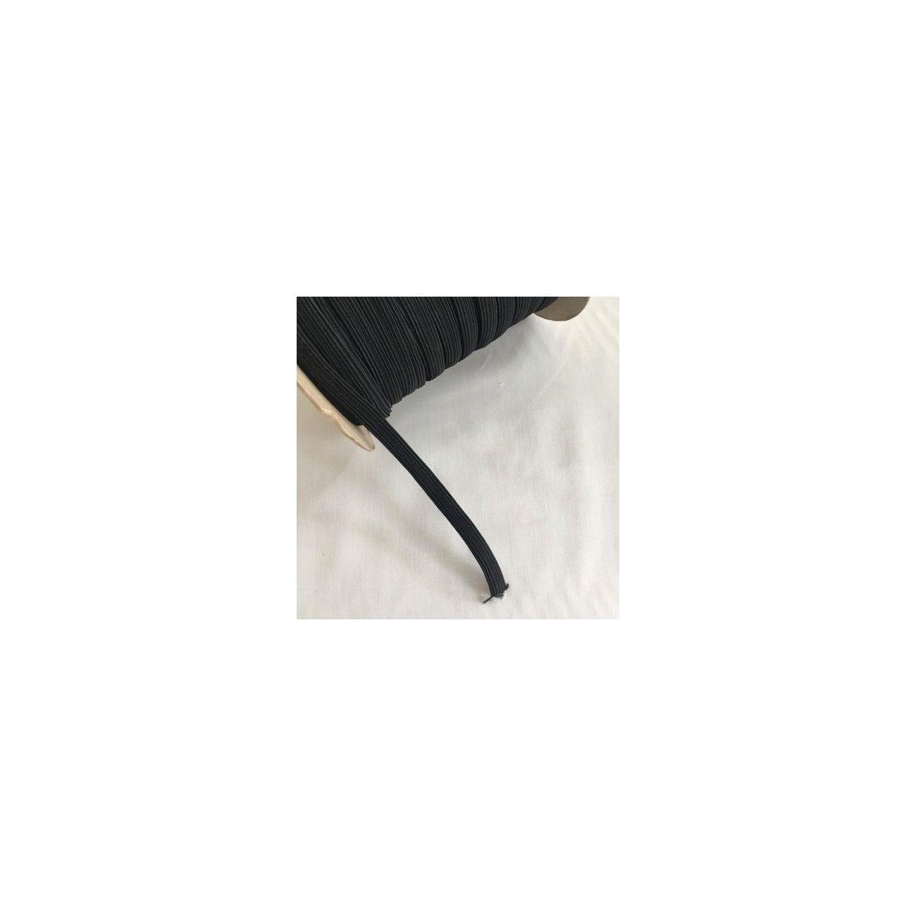 Ruban d'élastique 6mm noir