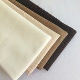 Lot de 4 coupons tissu uni naturel