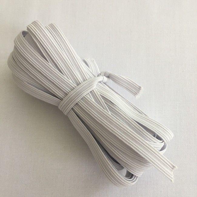 Ruban d'élastique 8mm blanc