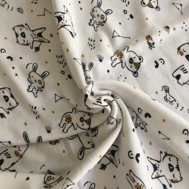Tissu jersey Bigao blanc