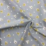 Tissu jersey Glow in the Market rockets gris
