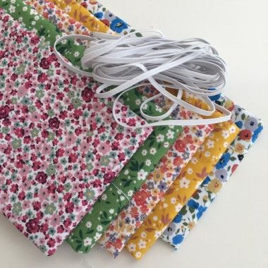 Lot de 5 coupons tissu style liberty