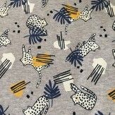 Tissu sweat molletonné léopard