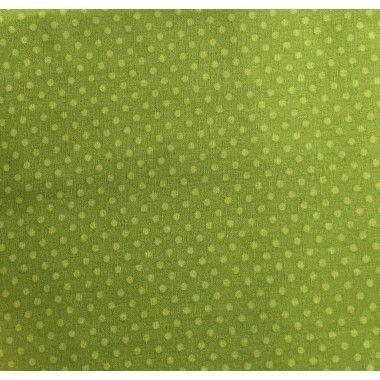 Tissu coton petit pois vert anis