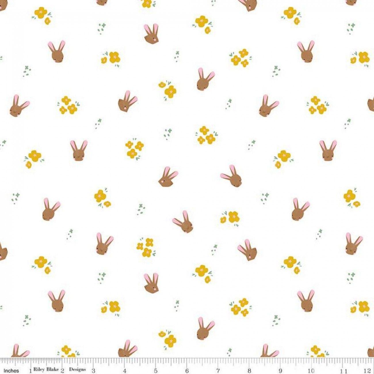 Tissu coton Riley Blake Easter Egg Hunt bunnies
