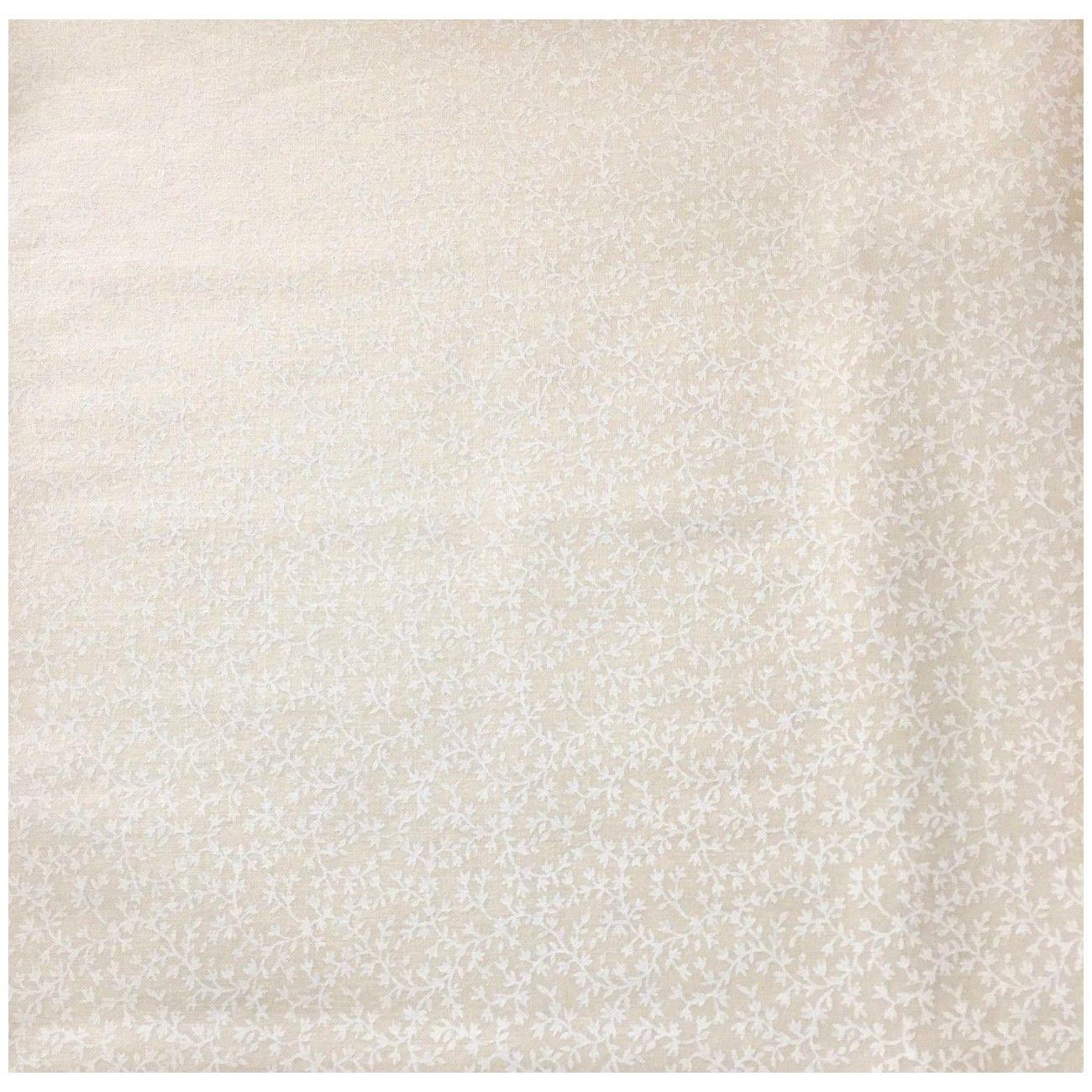 Tissu coton ton sur ton blanc cassé petite fleur