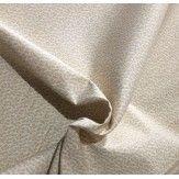 Tissu coton ton sur ton blanc cassé petit feuille