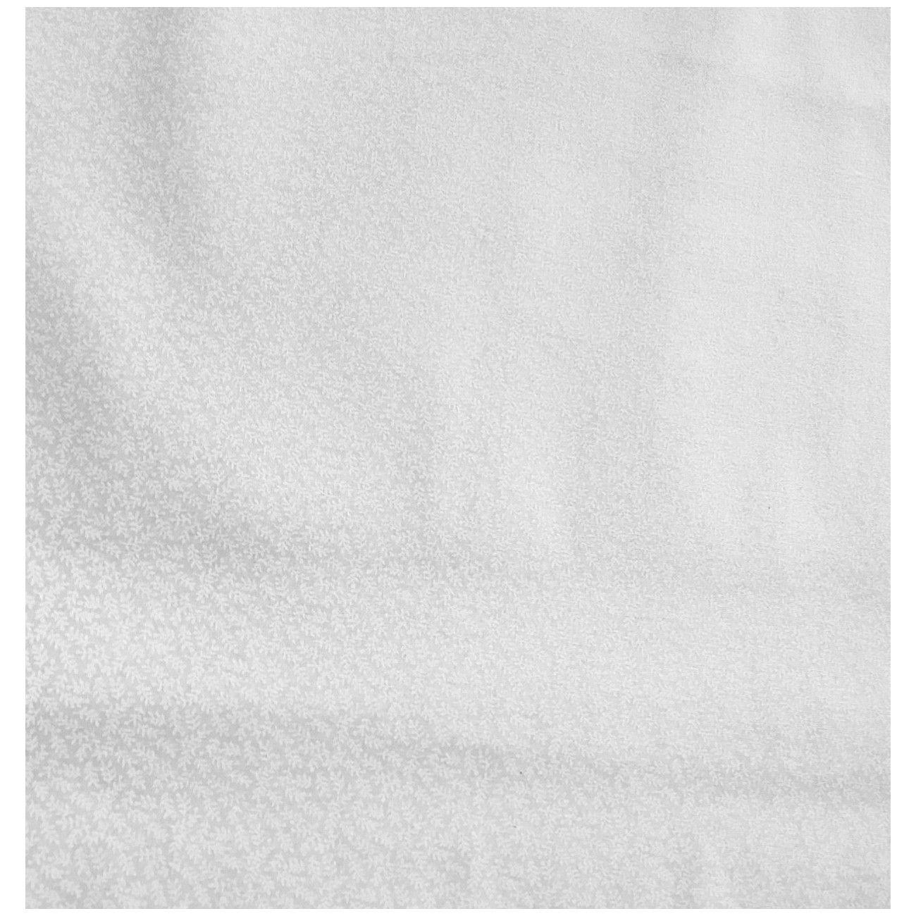 Tissu coton ton sur ton petite feuille blanc