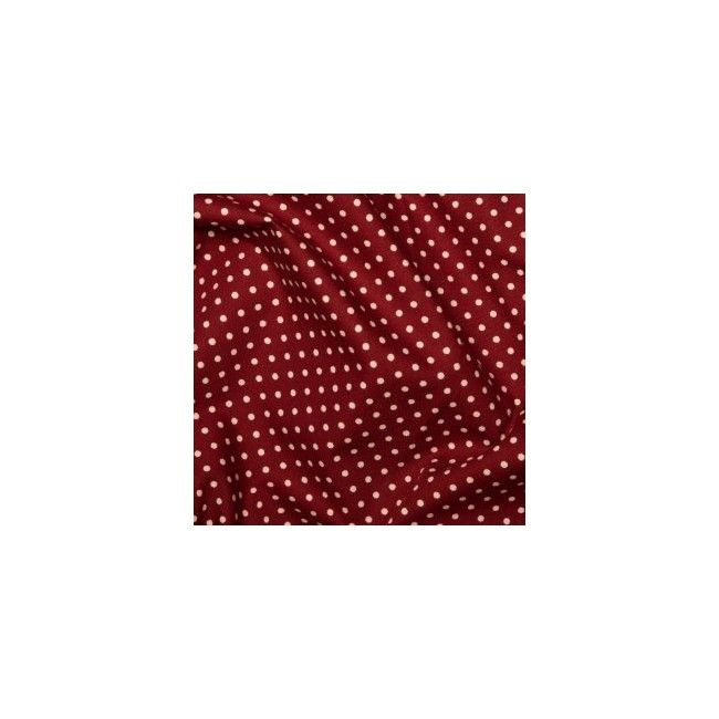 Tissu Pois Bordeaux - 1