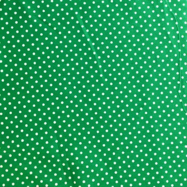 Tissu coton pois vert émeraude - 1