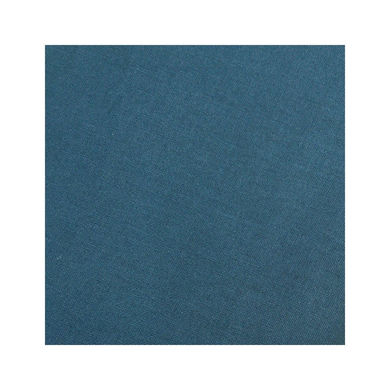 Tissu coton uni vert paon - 1