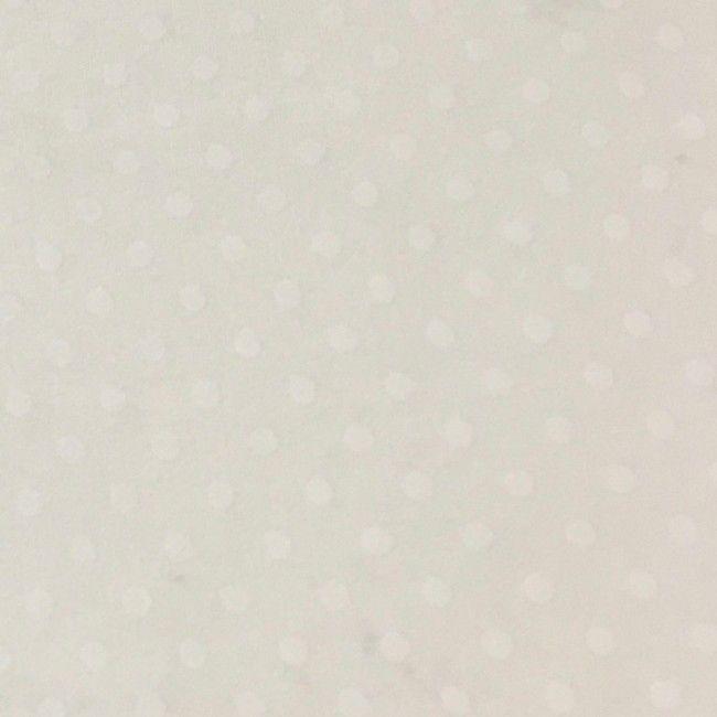 Tissu pois blanc cassé - 1