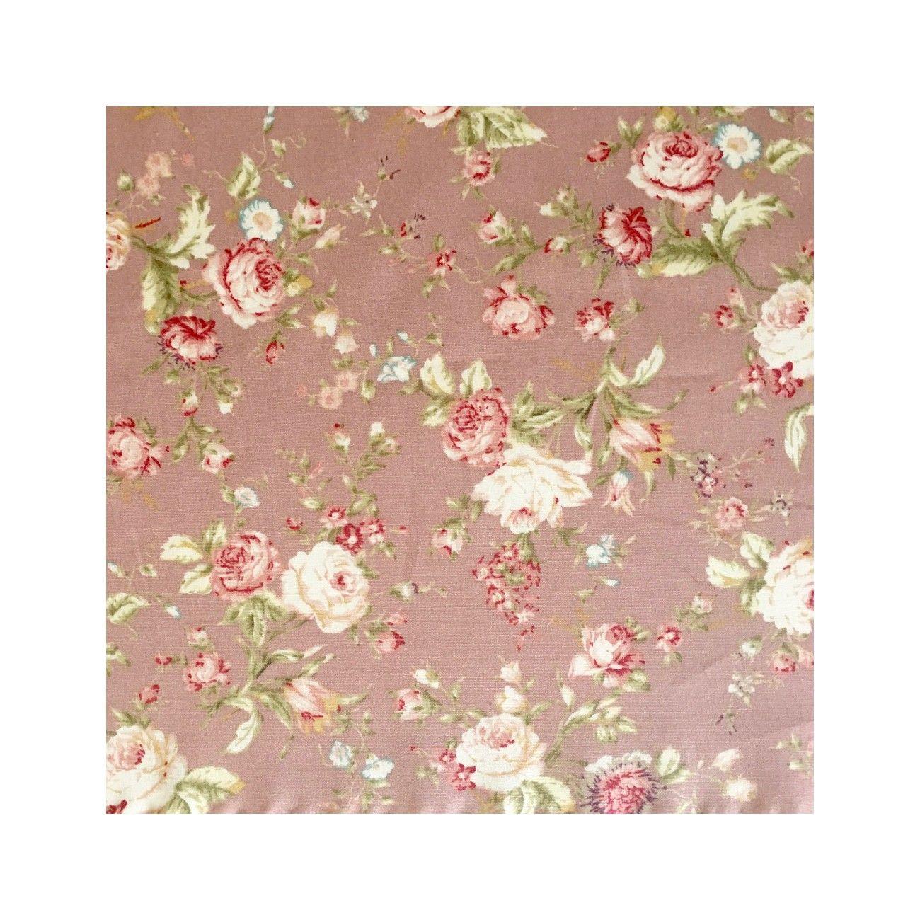 Tissu Vintage Roses Rose - 1