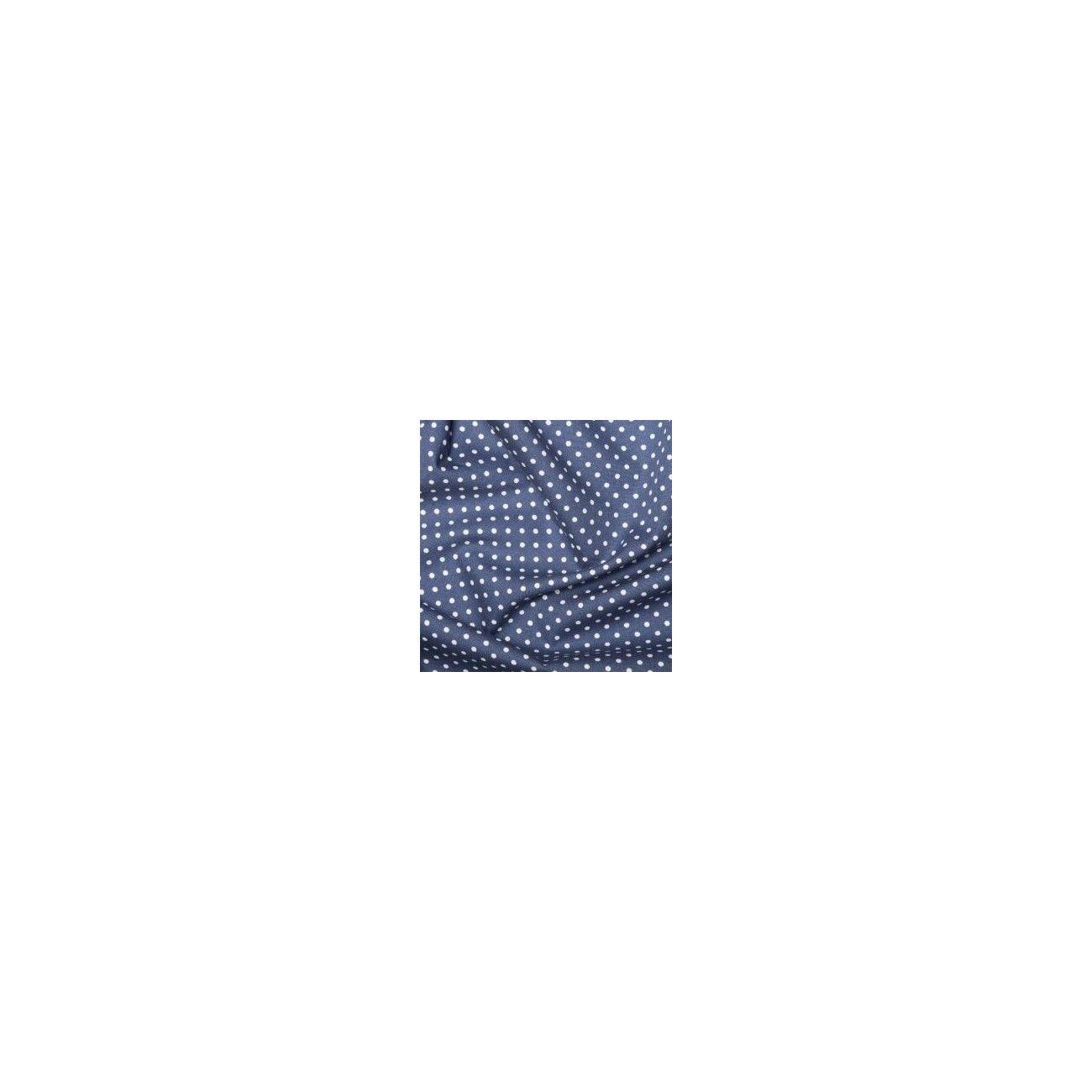 Tissu Pois Bleu Roi