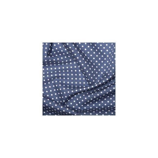 Tissu Pois Bleu Roi - 1