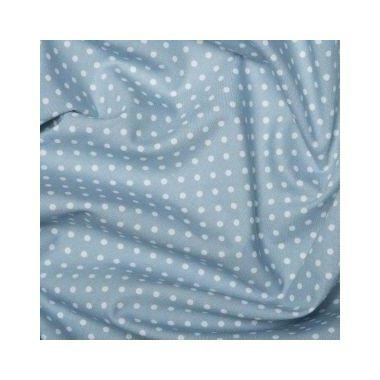 Tissu Pois Bleu