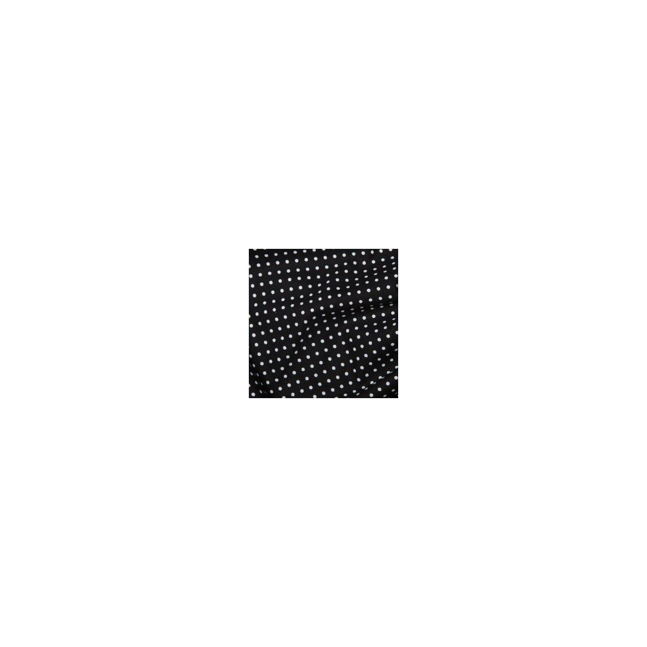 Tissu Pois Noir