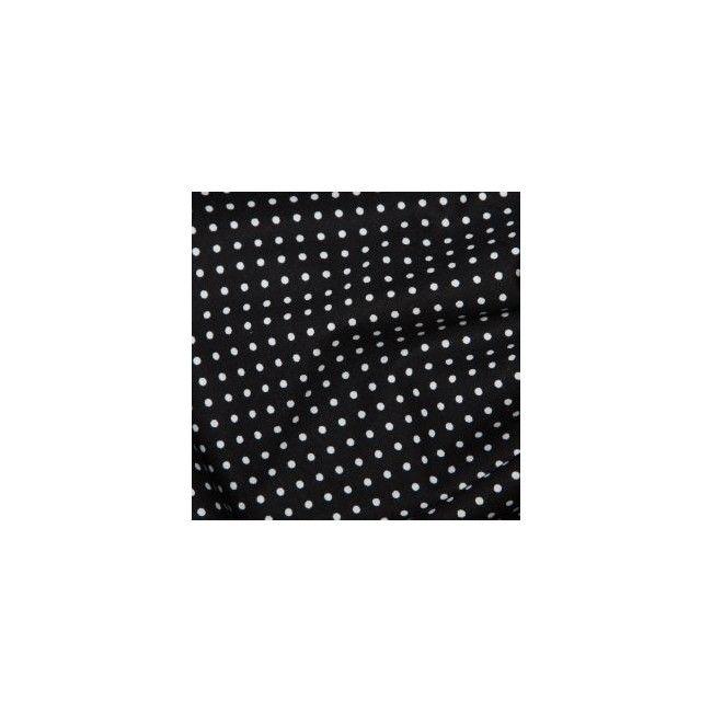 Tissu Pois Noir - 1
