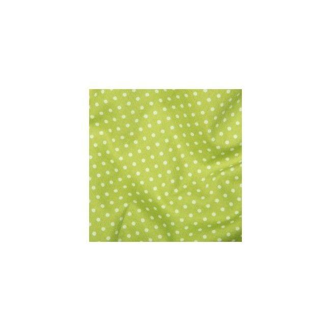 Tissu Pois Vert Anis - 1