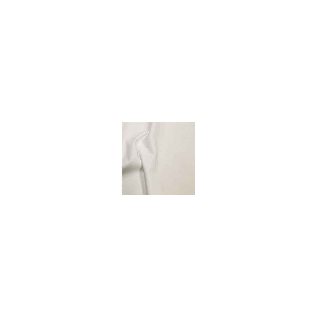 Tissu coton uni blanc cassé