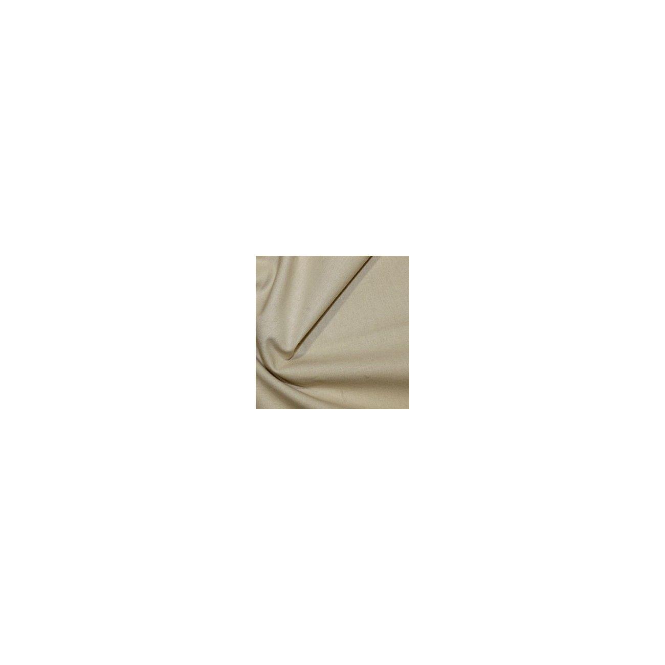 Tissu coton uni beige