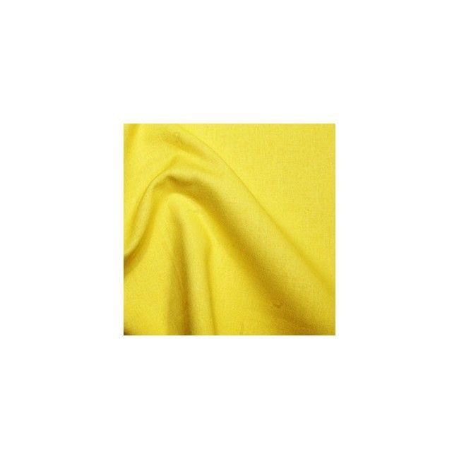 Tissu coton uni jaune