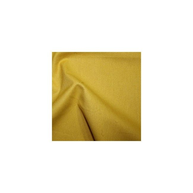 Tissu coton uni moutarde
