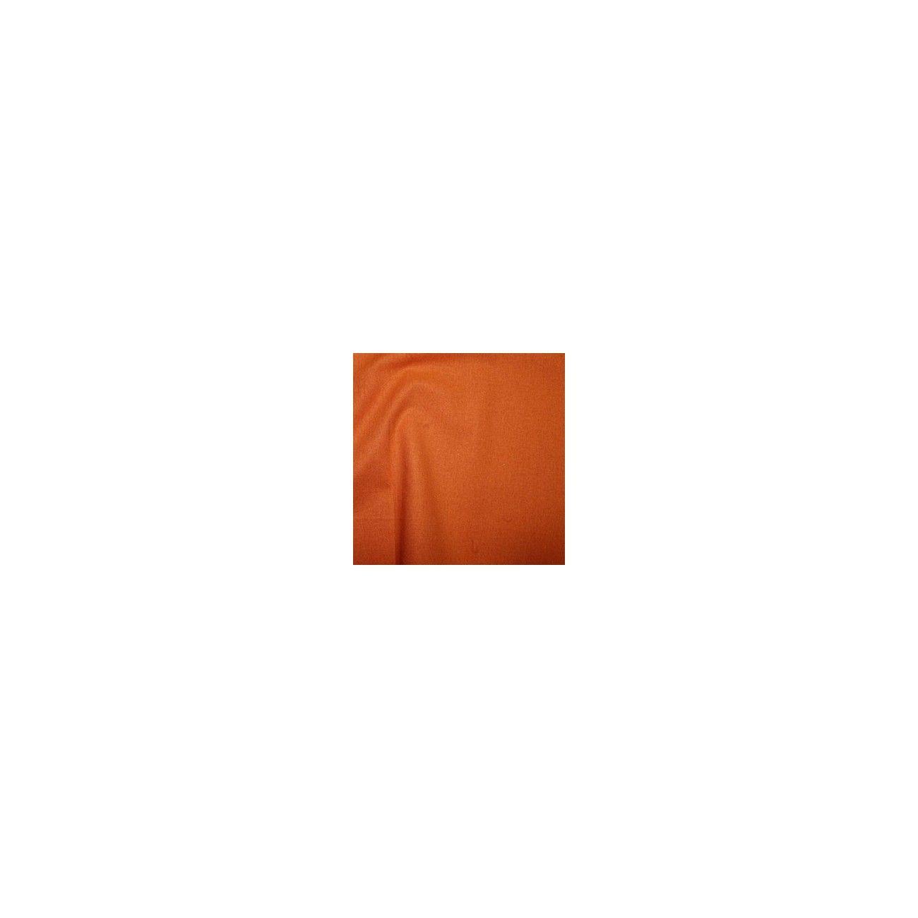 Tissu coton uni orange