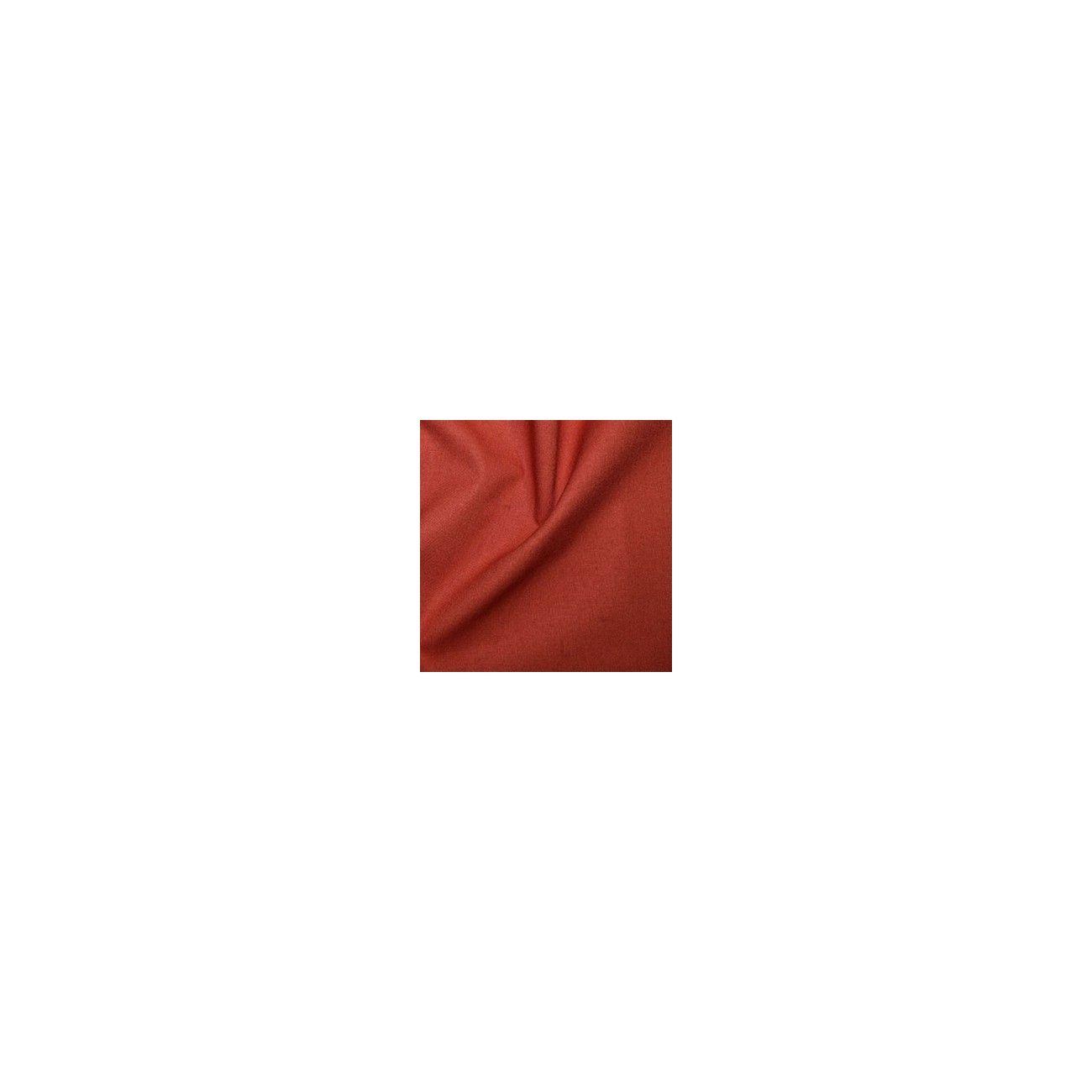 Tissu coton uni orange rouillée