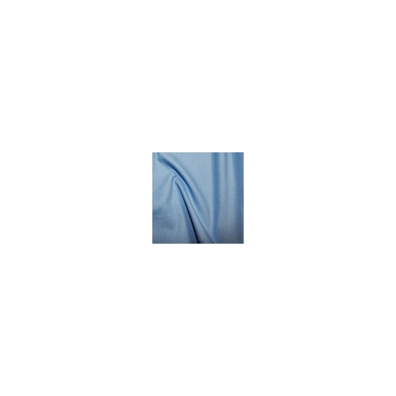 Tissu coton uni bleu ciel