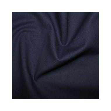 Tissu coton uni bleu marine