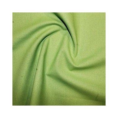 Tissu coton uni vert anis