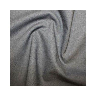 Tissu coton uni gris