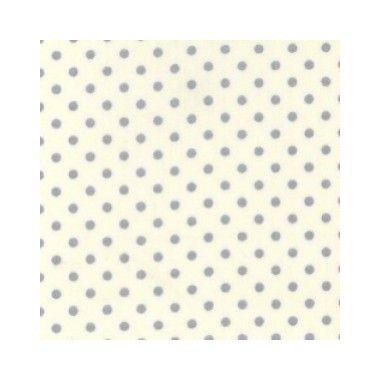 Tissu Ivory Dot Blue
