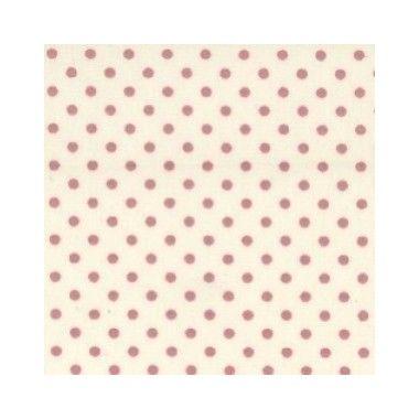 Tissu Ivory Dot Pink